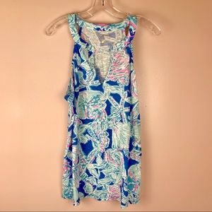 NWT Lilly Pulitzer Arya Tank Bay Blue XL